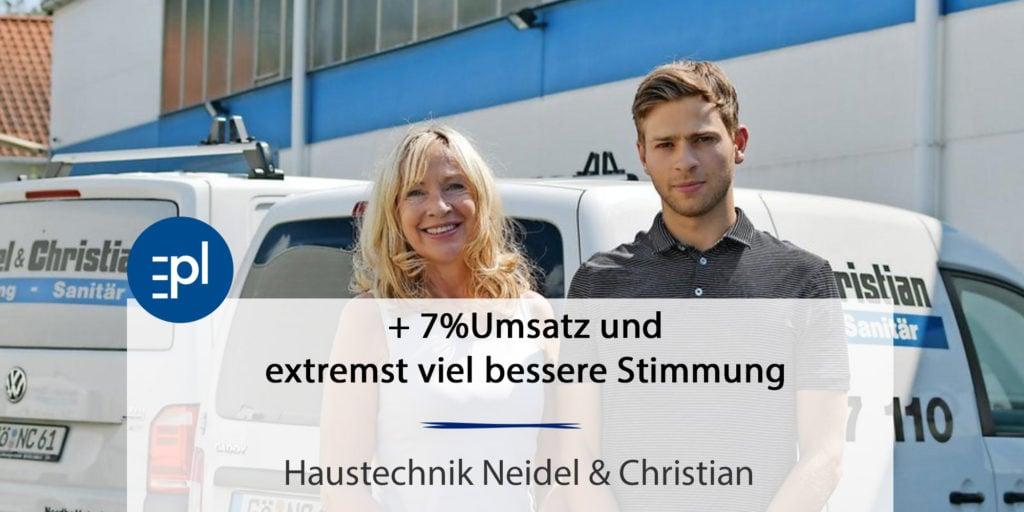 7% mehr Umsatz - Neidel u. Christian