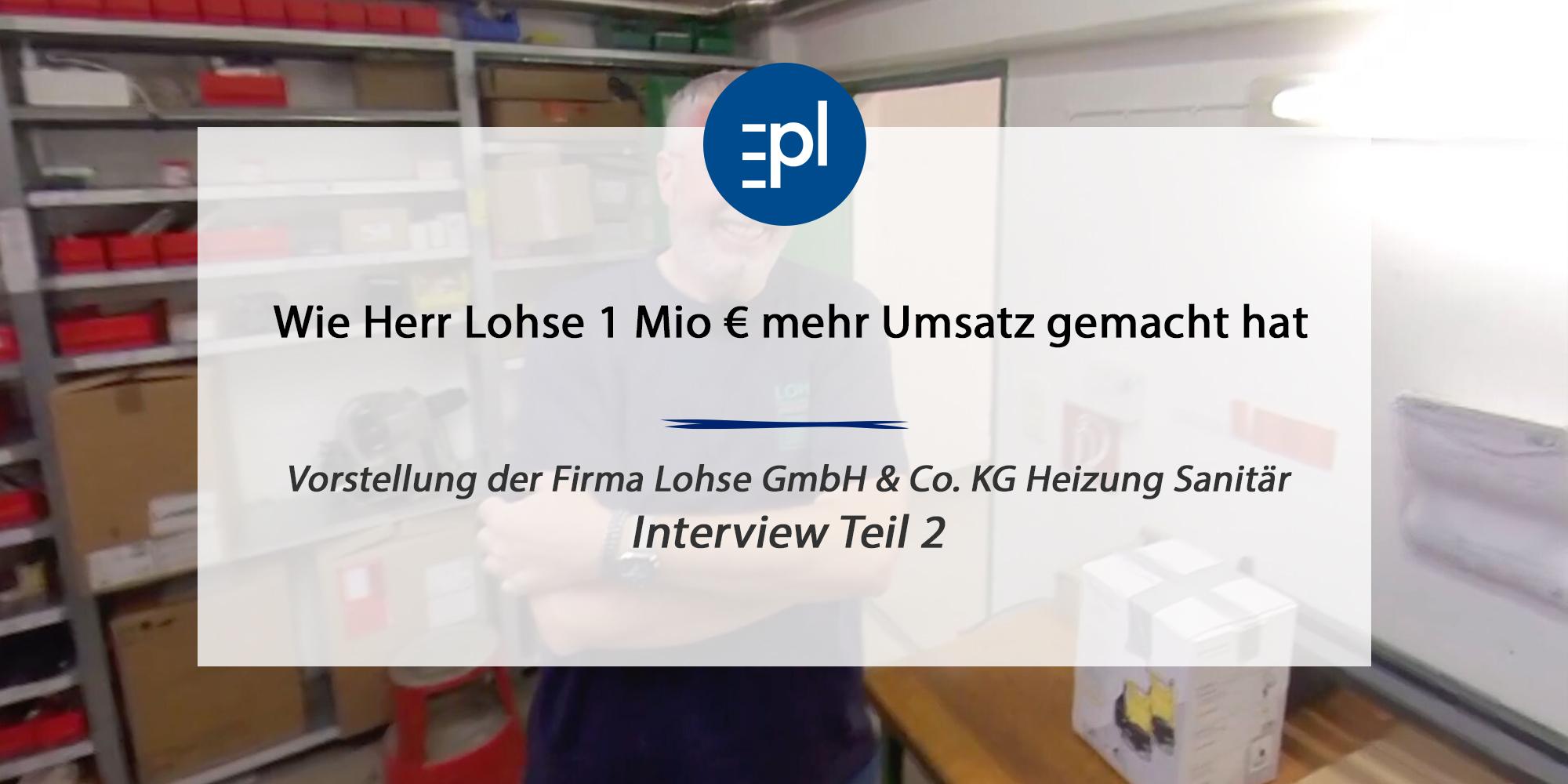 Lohse Interview Teil 2